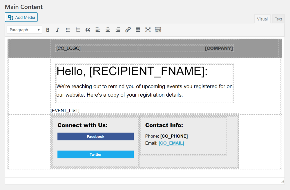 Email Notifications Template