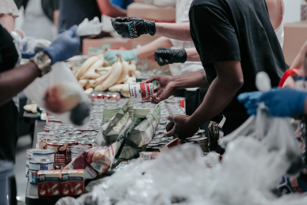 Food distribution as a result of a fundraising event of a non-profit organization